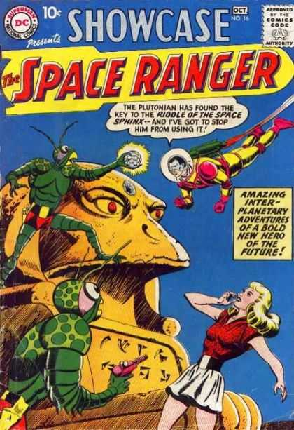 Showcase 16 - Space Ranger - Plutonian - Riddle Of The Space Sphinx - Inter-planetary Adventures - Bold New Hero Of The Future