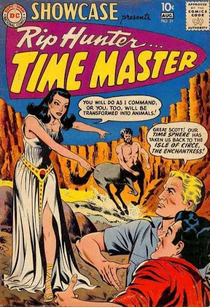 Showcase 21 - Rip Hunter - Time Master - Woman - Man - Time Sphere