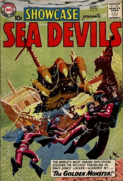 Showcase 27 - Superman National Comics - Approved By The Comics Code - Sea Devils - Monsters Paw - Ship
