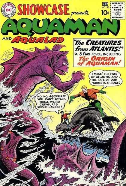 Showcase 30 - Weird Creatures - Purple Creature - The Creatures From Atlantis - Fish - Fate Of The World - Sheldon Moldoff