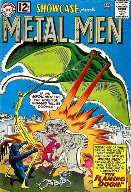 Showcase 37 - Metal Men Bend - Green Tyraid - Melting Fight - Shock Waves - City Be Damned - Ross Andru