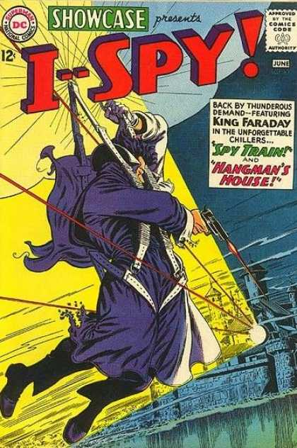 Showcase 50 - Spy Train And Hangmans House - Guns - Zip Lines - Buildings - King Faraday - Carmine Infantino, Murphy Anderson