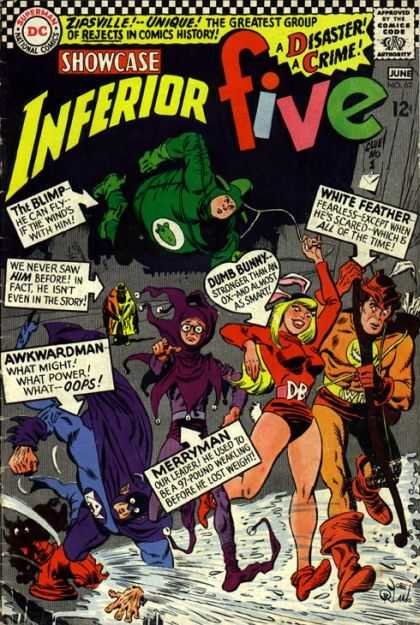 Showcase 62 - Inferior Five - Dumb Bunny - Awkwardman - The Blimp - The Greatest Group Of Rejects In Comics History