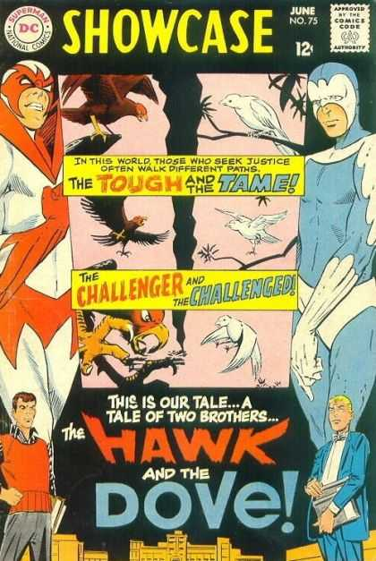 Showcase 75 - The Tough And The Tame - The Challenger And The Challenged - The Hawk And The Dove - Tale Of Two Brothers - June No 75
