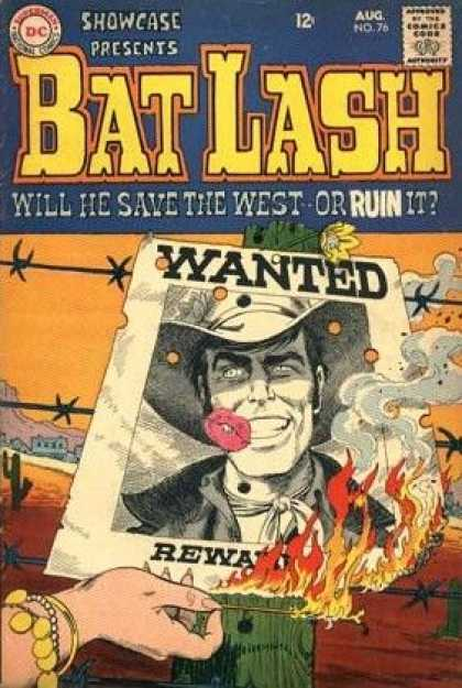 Showcase 76 - Poster - Wanted - Cowboy - Barbwire - Fire - Nick Cardy
