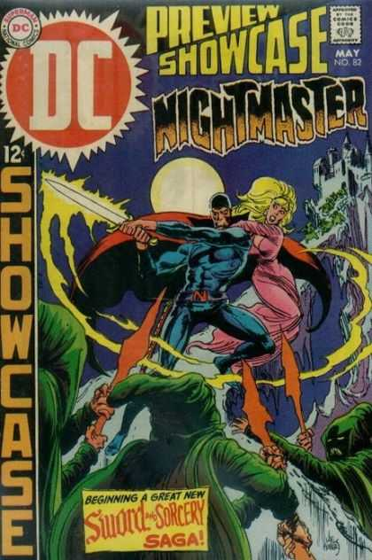 Showcase 82 - Sword - Castle - Superhero - Full Moon - Gothic - Joe Kubert