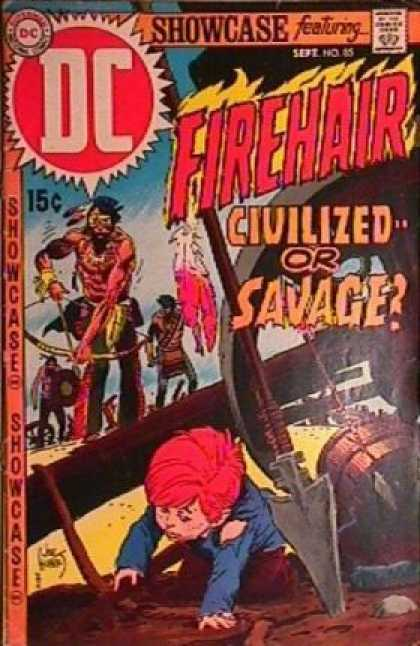 Showcase 85 - Showcase - Indians - Child In Danger - Bow And Arrows - September Issue - Joe Kubert