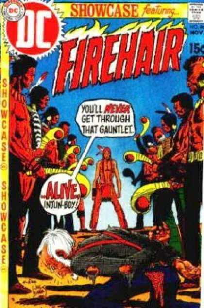 Showcase 86 - Dc - Firehair - Speech Bubbles - Indians - November - Joe Kubert