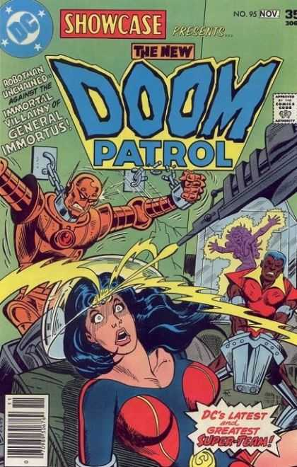 Showcase 95 - The Doom Patrol - Robotman - General Immortus - Super-team - Laser - Jim Aparo
