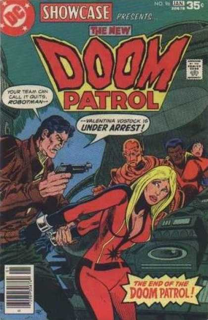 Showcase 96 - Doom Patrol - Guns - Lady - Men - Yellow Hair - Jim Aparo