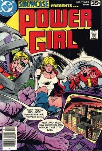 Showcase 99 - Power Girl - Superhero - Trapped - City - Youll Pay For Thwarting Me - Dick Giordano, Joe Staton