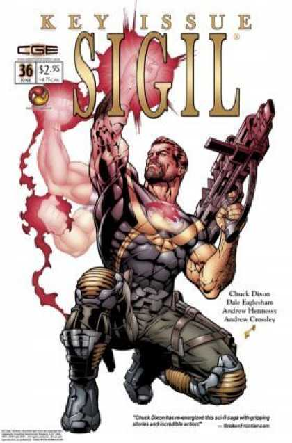 Sigil 36 - Key Issue - Cge - Man - Gun - Andrew Crossley - Dale Eaglesham