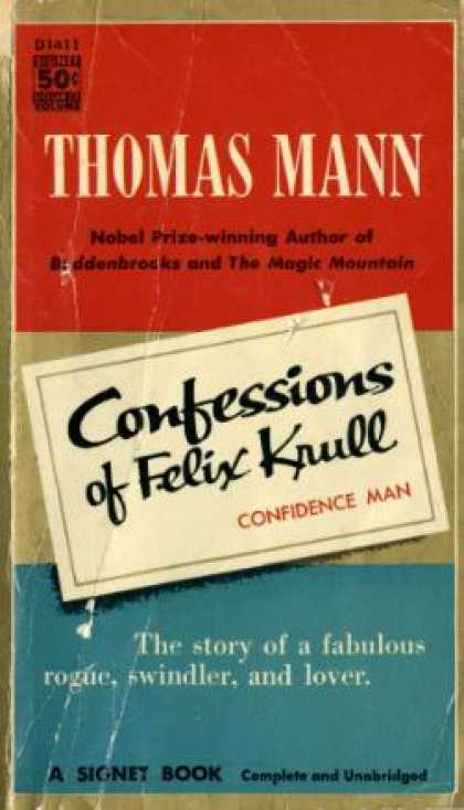 Signet Books - Confessions of Felix Krull, Confidence Man - Thomas Mann