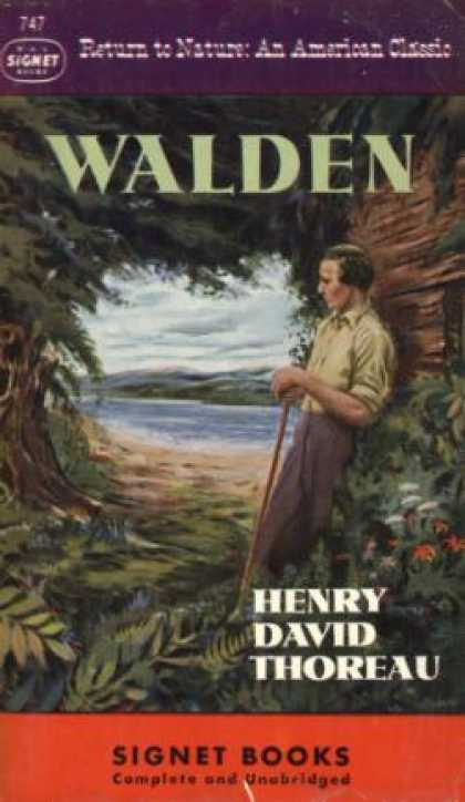 Signet Books - Walden: Return To Nature, an American Classic