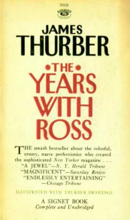 Signet Books - The Years With Ross - James Thurber