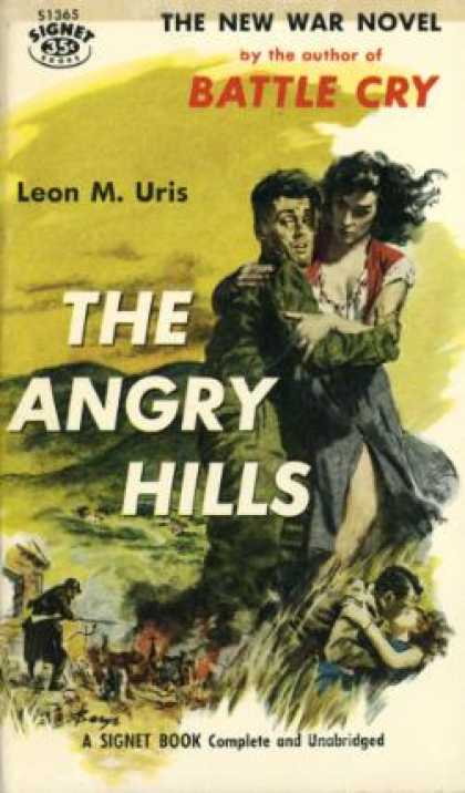 Signet Books - The Angry Hills - Uris Leon