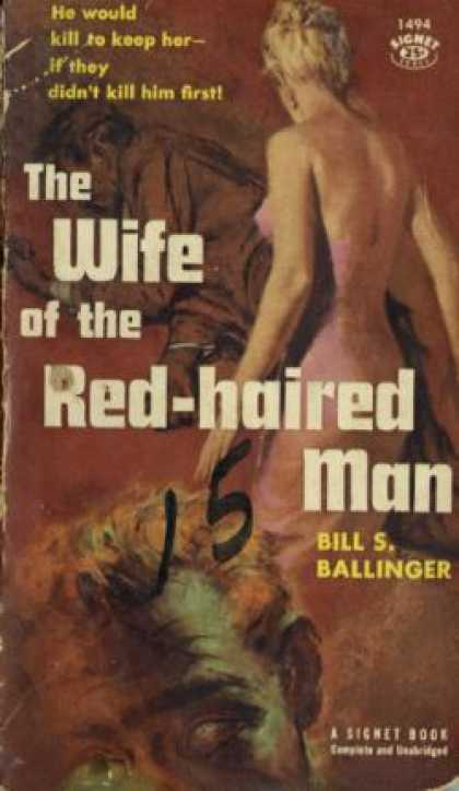 Signet Books - The Wife of the Red-haired Man - Bill S Ballinger