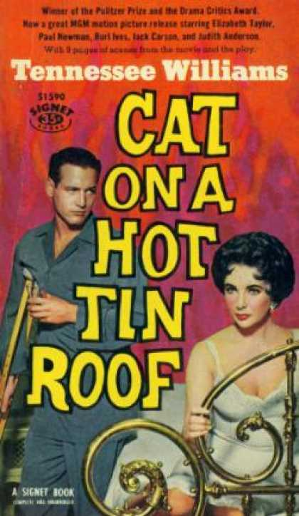 Signet Books - Cat On a Hot Tin Roof - Tennessee Williams