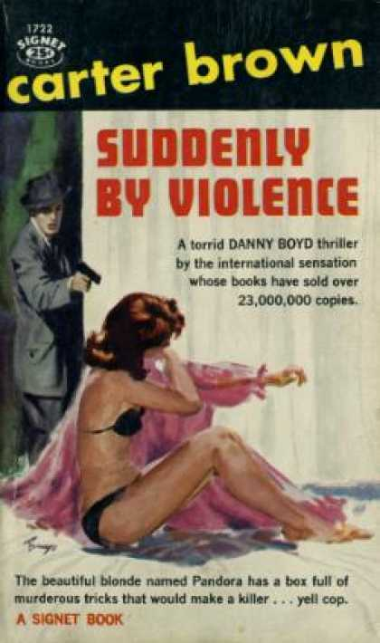 Signet Books - Suddenly By Violence - Carter Brown