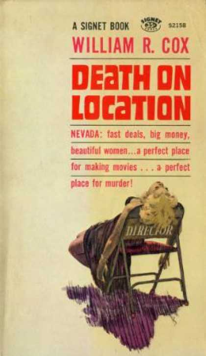 Signet Books - Death On Location - William Robert Cox