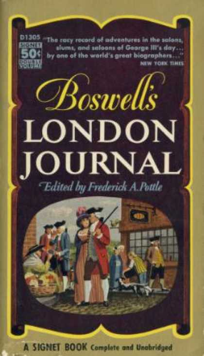 Signet Books - Boswell's London Journal - Frederick A. Pottle