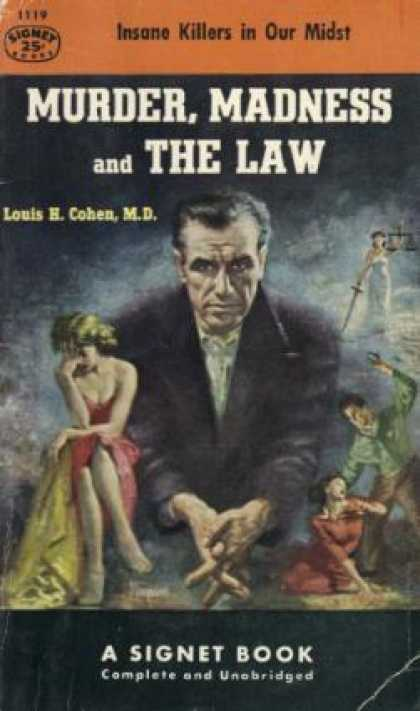 Signet Books - Murder, Madness, and the Law