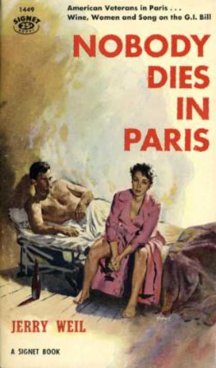 Signet Books - Nobody Dies In Paris - Jerry Weil