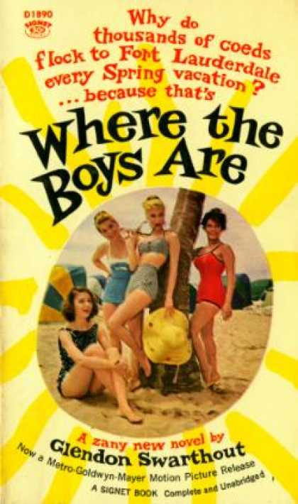 Signet Books - Where the Boys Are - Glendon Swarthout