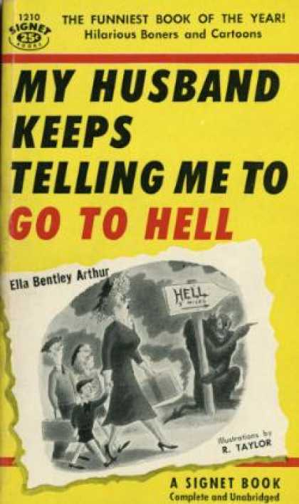 Signet Books - My Husband Keeps Telling Me Go Hell