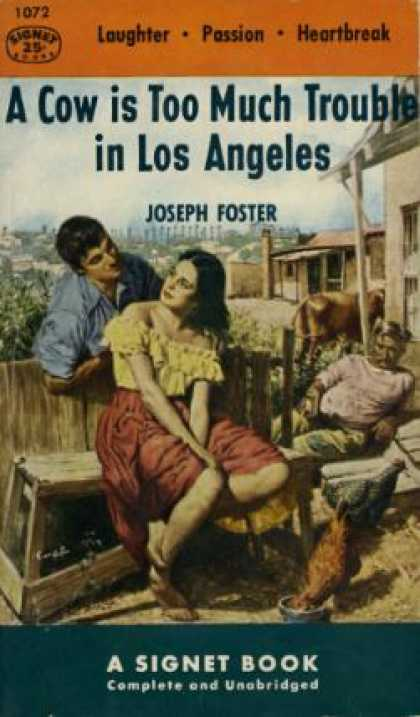 Signet Books - A Cow Is Too Much Trouble In Los Angeles - Joseph Foster