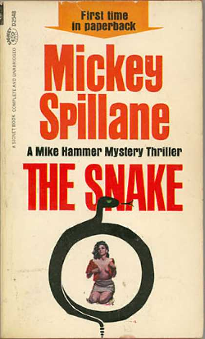 Signet Books - The Snake - Mickey Spillane