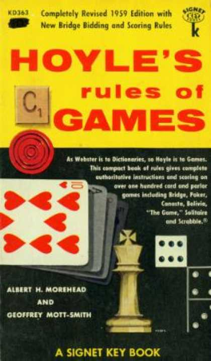 Signet Books - Hoyle's Rules of Games: Descriptions of Indoor Games of Skill and Chance, With A