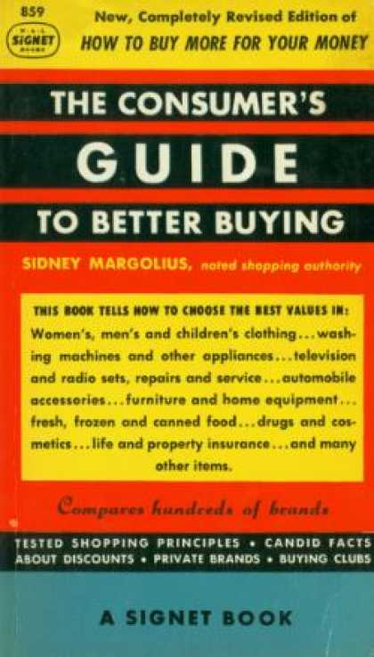 Signet Books - Consumer's Guide To Better Buying