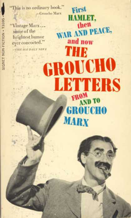 Signet Books - The Groucho Letters From and To Groucho Marx