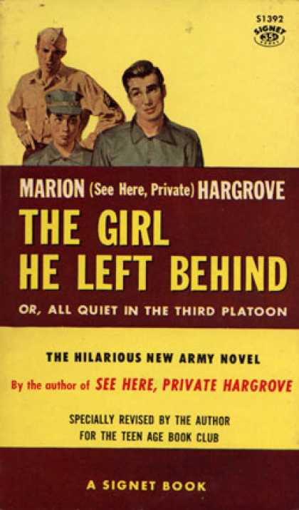 Signet Books - The girl he left behind - Marion Hargrove