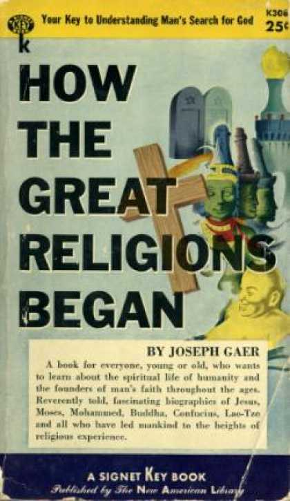 Signet Books - How the Great Religions Began - Joseph Gaer