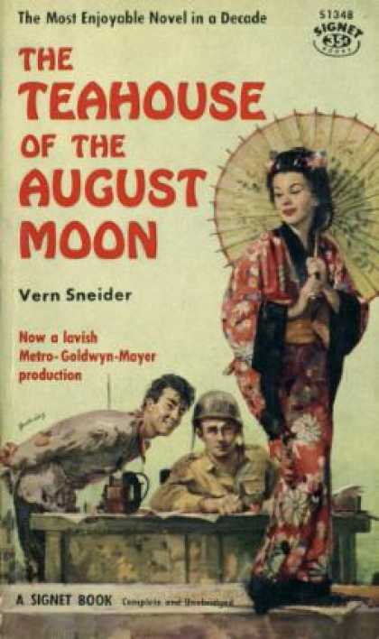 Signet Books - The Teahouse of the August Moon - Verne Sneider