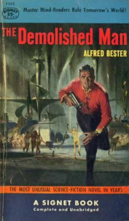 Signet Books - The Demolished Man - Alfred Bester
