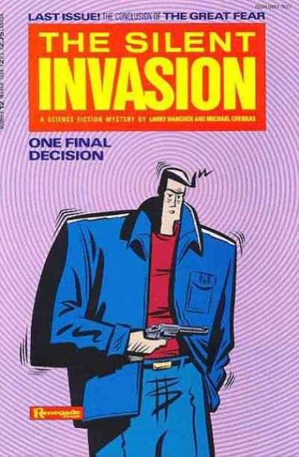 Silent Invasion 12 - Last Issue - Great Fear - Man - One Final Decision - Gun