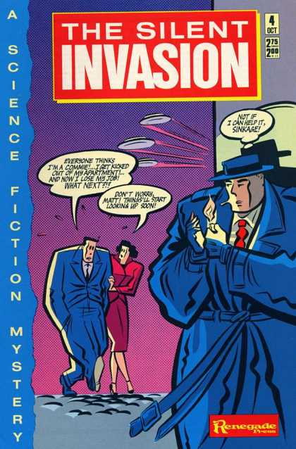 Silent Invasion 4 - 4 Oct - Cap - Tie - Coat - A Science Fiction Mystery