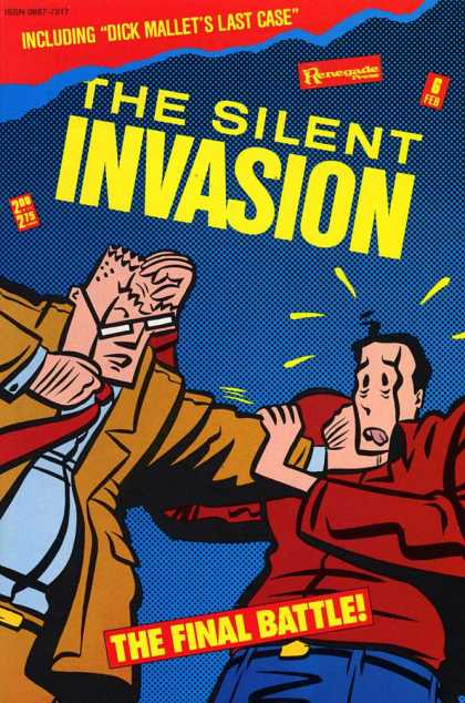 Silent Invasion 6 - Glasses - Choke Hold - Brown Suit - Red Tie - Blue Shirt