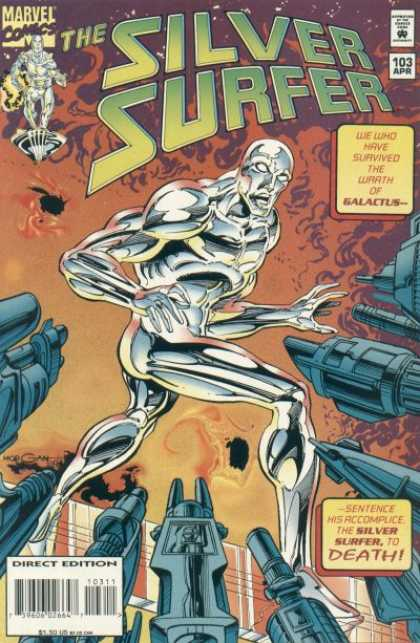 Silver Surfer (1987) 103 - Marvel Comics - Wrath - Galactus - Direct Edition - April 103