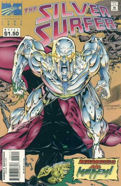 Silver Surfer (1987) 105 - Dead Hero - Bald - Angry - Screaming - Barren