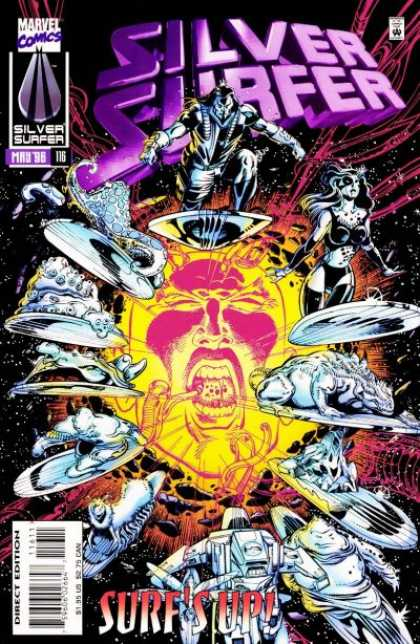 Silver Surfer (1987) 116 - Space - Aliens - Face - Surfs Up - Explosion