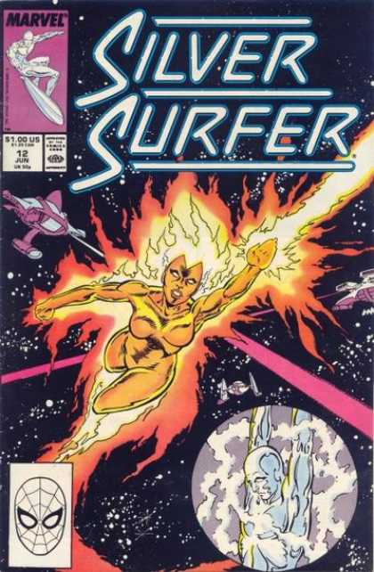 Silver Surfer (1987) 12 - Marvel - Planet - Comics Code - Woman - Star Ship