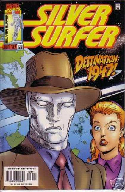 Silver Surfer (1987) 129 - Marvel - Earth - Hat - Woman - Destination 1947 - Ron Garney