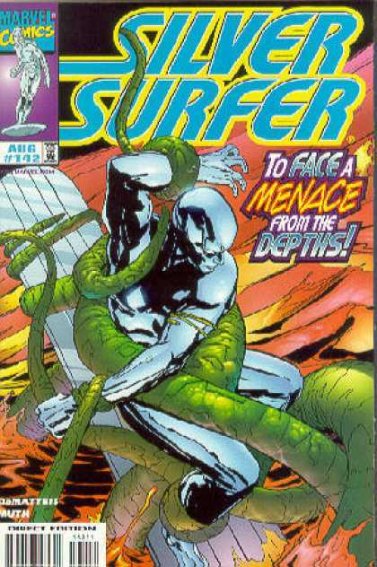 Silver Surfer (1987) 142 - Tentacles - Ocean - Depths - Menace - Marvel - Jon Muth