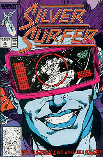Silver Surfer (1987) 26 - Evil Grin - Silver Surfer - Flying Through Space - Watching You - The Mask - Josef Rubinstein, Ron Lim