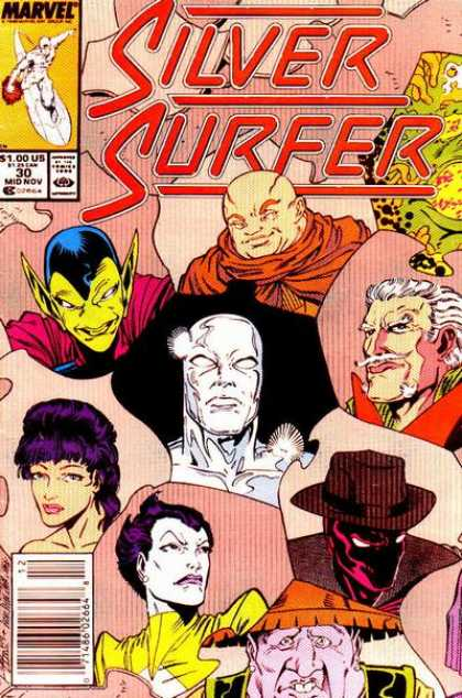 Silver Surfer (1987) 30 - Marvel - The Stranger - Faces - Space - 30 - Ron Lim