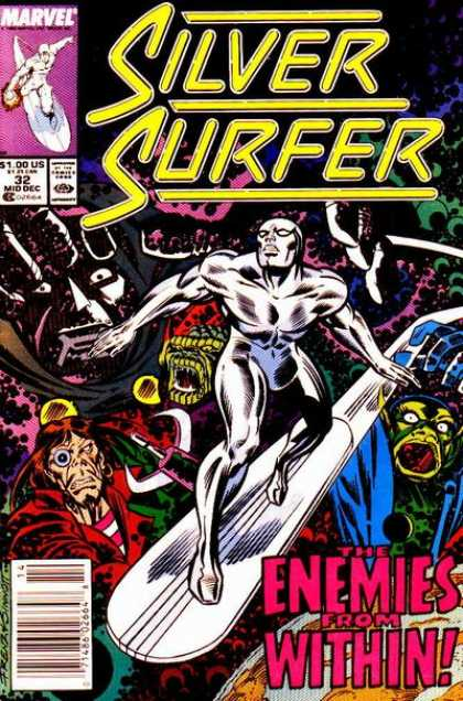 Silver Surfer (1987) 32 - 32 Mid Dec - The Enemies From Within - Monsters - Marvel Comics - Escape - Joe Sinnott